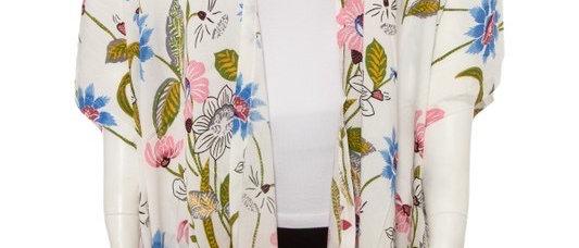 Floral white Kimono