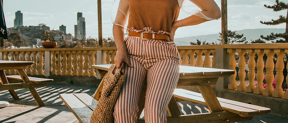 Red/White Stripe Pant