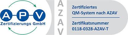 APV-Zertifikat-Logo QM 0118-0328-AZAV-T.