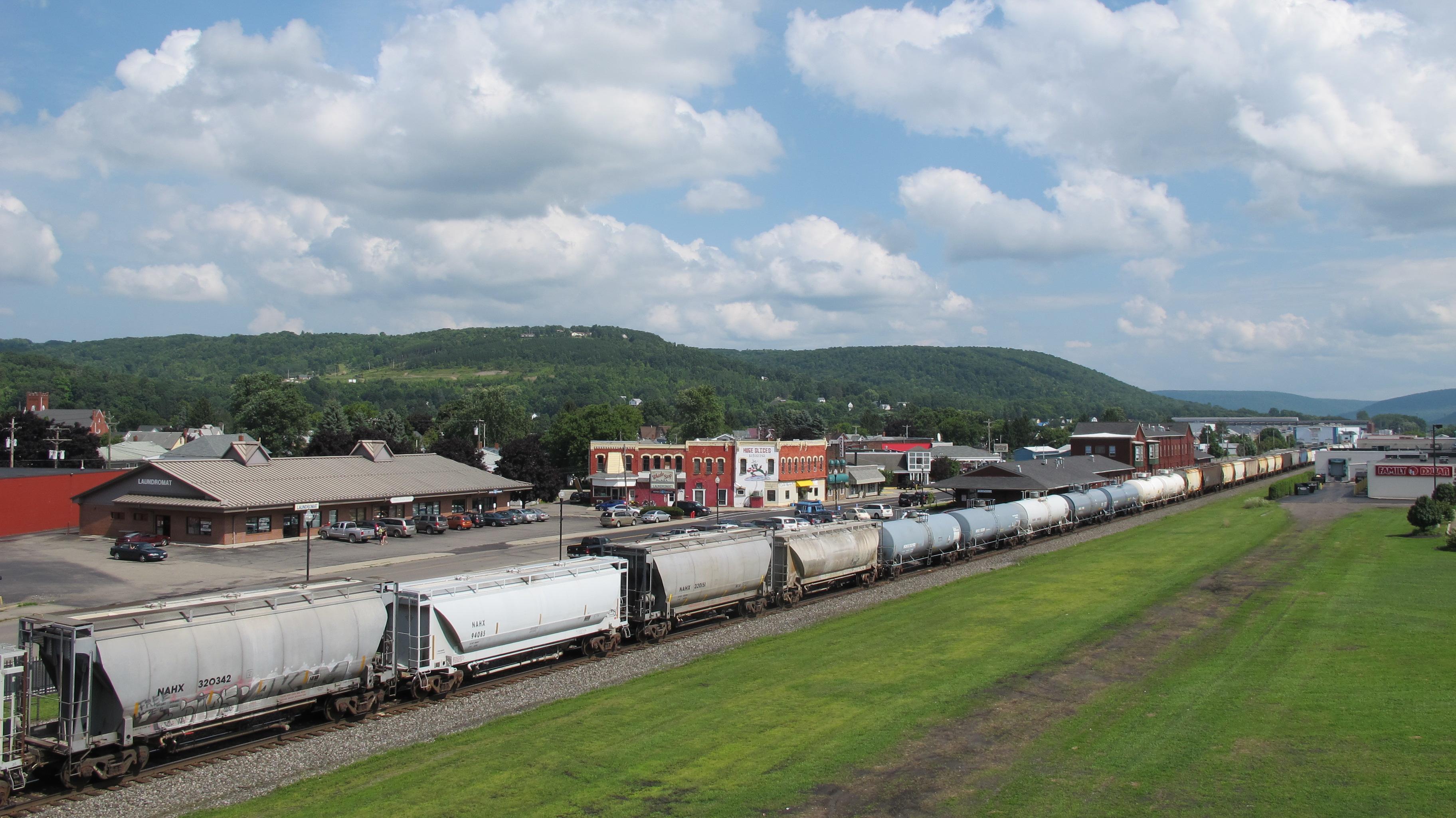 train through Hornell