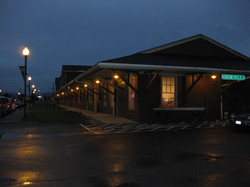 Erie Depot at night
