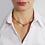 Thumbnail: Collana regolabile con pendente Lettera in Oro