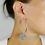 Thumbnail: Orecchini  a cerchio Hoops in argento Sterling 925 massiccio e Rubini N