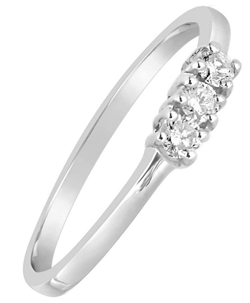 Anello Trilogy Oro e Diamanti Naturali