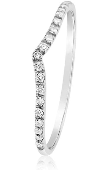 Anello Oro e Diamanti Naturali Stackable