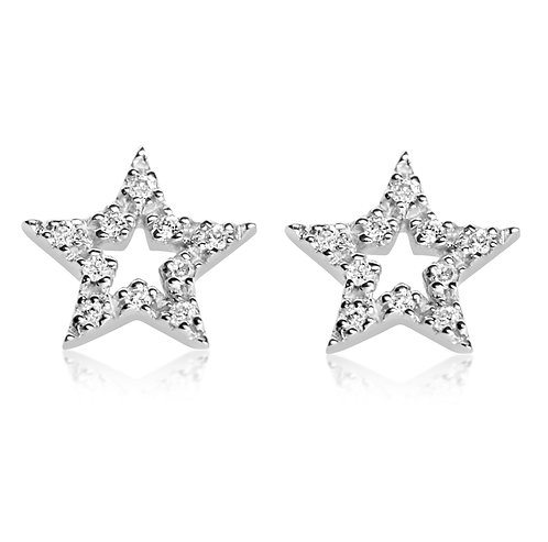 Orecchini Stella in Oro e Diamanti Naturali  (coppia/singolo)