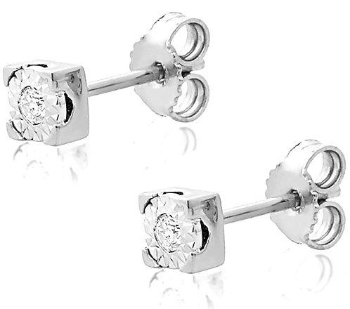 Orecchini Punto Luce in Oro e Diamanti Naturali  (coppia/singolo)