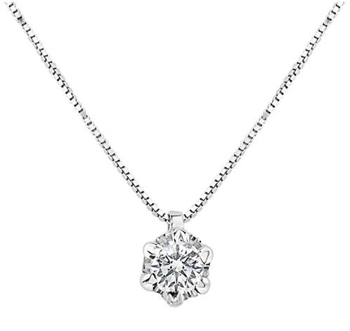 Collana  punto luce con Diamante Naturale