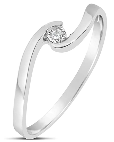Anello Solitario Oro Diamante Naturale