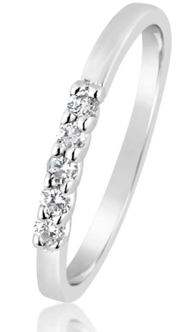 Anello Rivière Oro e Diamanti Naturali
