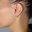 Thumbnail: Orecchini  Cuore Oro Perla e Diamanti Naturali