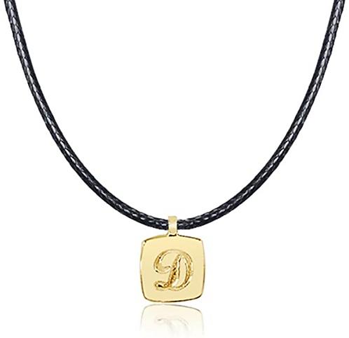 Collana regolabile con pendente Lettera in Oro