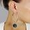 Thumbnail: Orecchini  a cerchio Hoops in argento Sterling 925 massiccio e Rubini Naturale