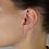 Thumbnail: Orecchini Lettera in Oro e Diamanti Naturali (coppia/singolo)