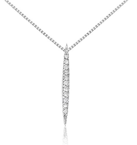 Collana con Pendente a lancia  in Oro e Diamanti Naturali