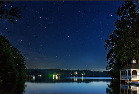 Kindred Spirits at Childs Cove Lake Anna VA stary night view from the dock.