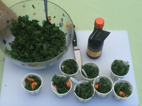 Fresh Raw Kale & Carrot Salad