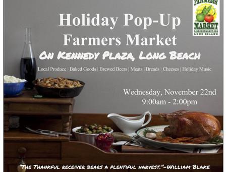 LI Greenmarket Hosts a Holiday Pop-Up Farmers Market on Kennedy Plaza in Long Beach, 11/22