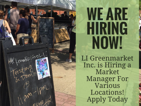 LI Greenmarket is Hiring