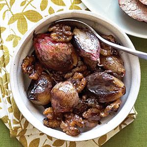 Weekend Recipes: Glazed Shallots and Walnuts