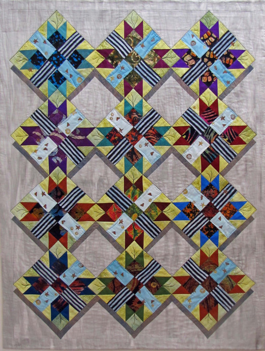 A New Art Quilt with a Traditional Block