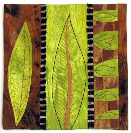 Leaves #4, a SAQA Auction Donation