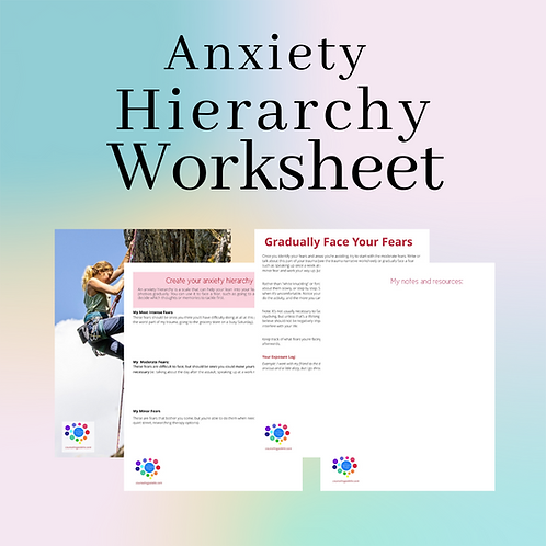 Anxiety Hierarchy and Exposure Worksheet