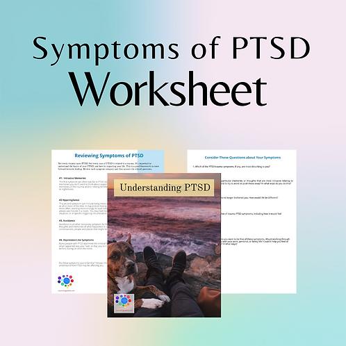 PTSD Symptoms: Downloadable Worksheet
