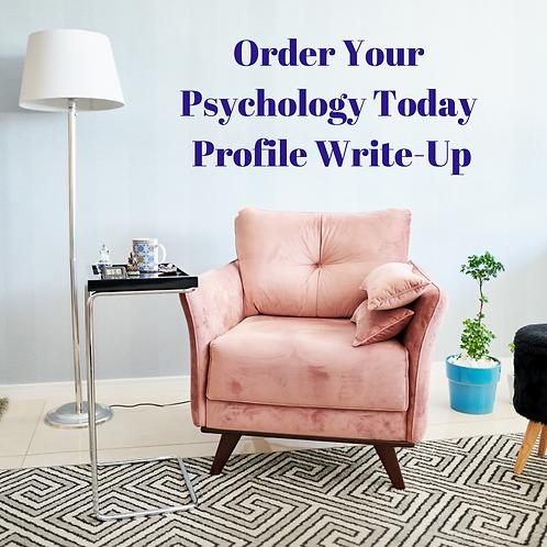Psychology Today Profile Writeup