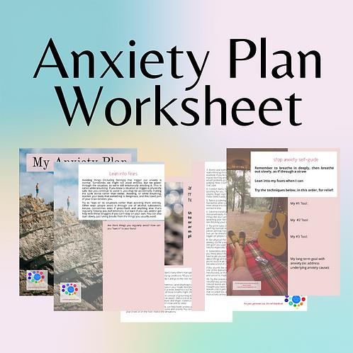 Anxiety Plan Worksheet