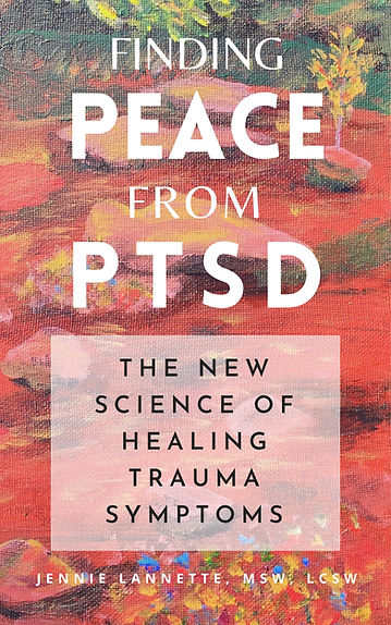 This book cover is for Finding Peace from PTSD, the New Science of Healing Trauma Symptoms.