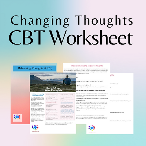 Changing Thoughts/CBT Worksheet