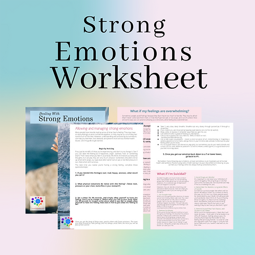 Dealing with Strong Emotions Worksheet
