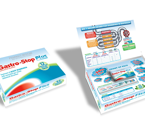 GASTRO-STOP PLUS TRADE DETAILER SELL IN SALES KIT PRESENTER