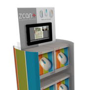 ZCAN FLOOR DISPLAY WITH LCD HEADER