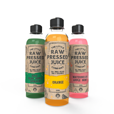 THE LITTLE RAW PRESSED JUICE PACKAGING DESIGN