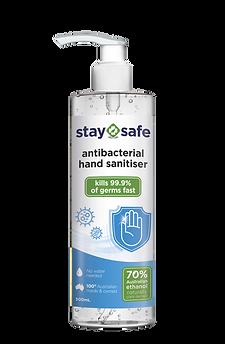 STAY SAFE Antibacterial Hand Sanitiser 500mL