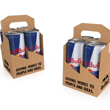RED BULL 4 UP CARRY PACK PACKAGING DESIGN