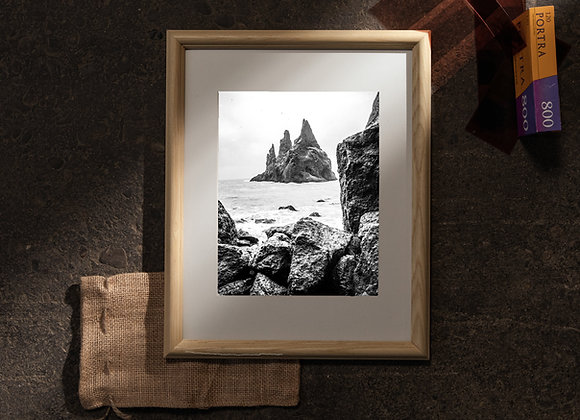Black Sand Beach (11x14 Frame / 8x10 Print)