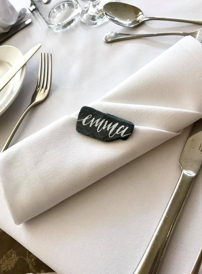 Slate Place Settings
