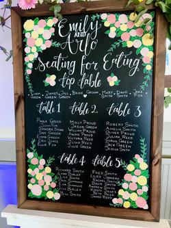Wedding Table Plan, A1