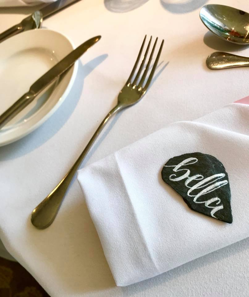 Slate Place Settings / Favours
