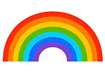 simple-7-color-rainbow-element-on-white-