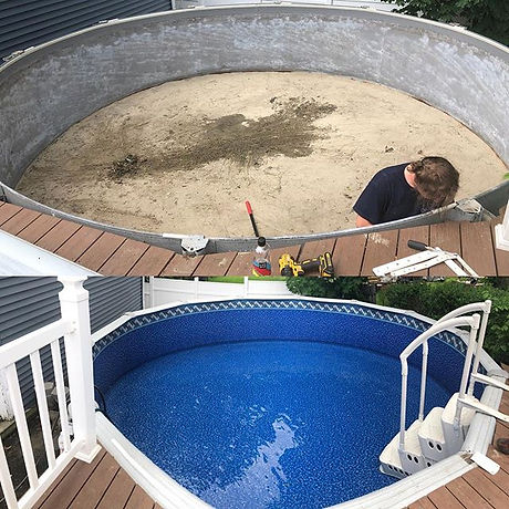 Pool liner replacement today in Boston #