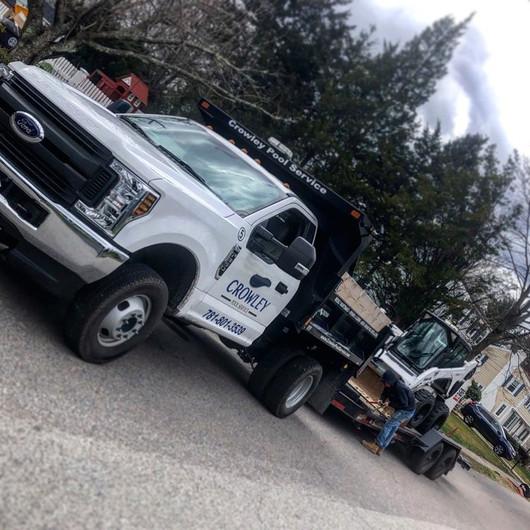 Dump Truck and bobcat