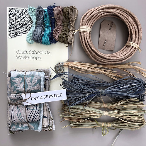 Textile Basket Kit with Ink & Spindle Fabric