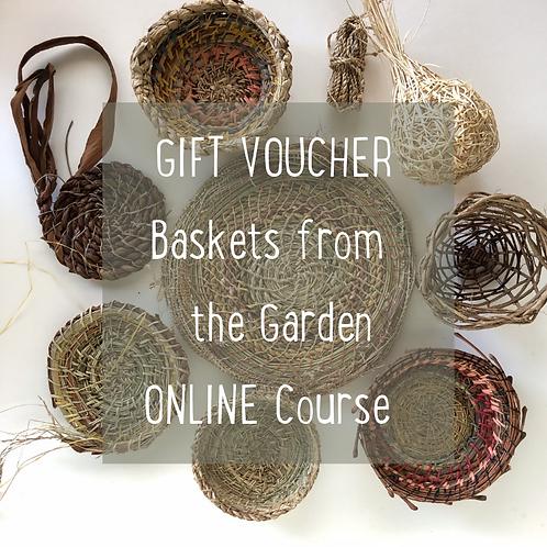 Gift Voucher - Baskets from the Garden Online Course