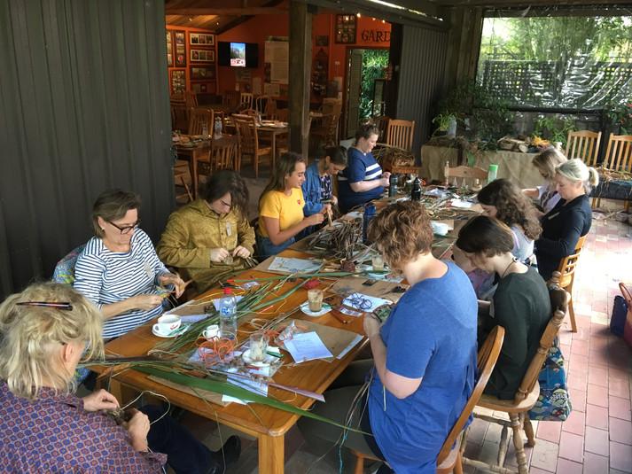 Garden basket workshop at Alowyn Gardens