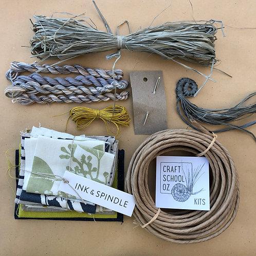 Textile Basket Kit with Ink & Spindle Fabric - Cool Tones - Inc ONLINE workshop