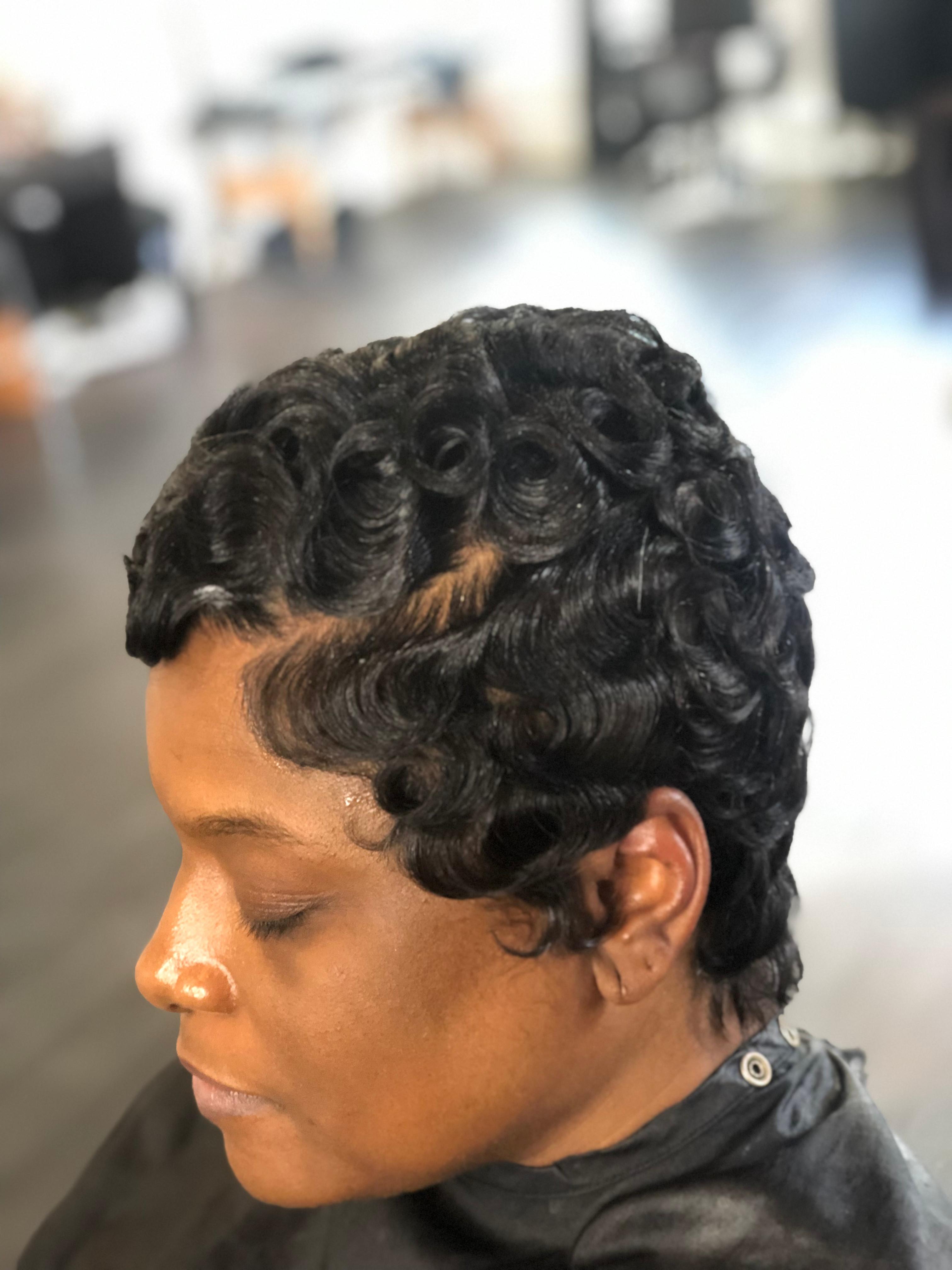 Relaxer +Hair Cut & Style